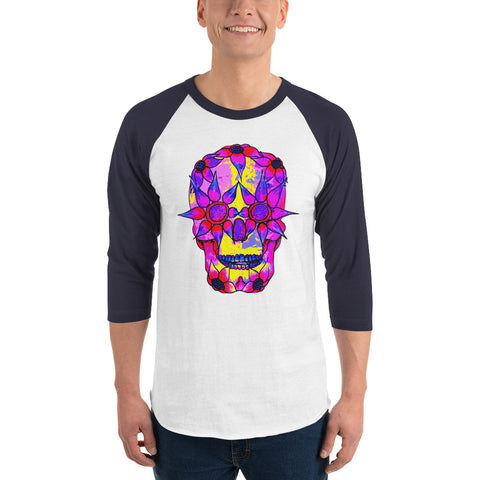 Image of OP - Pink Skully - *Men's 3/4 sleeve Shirt*