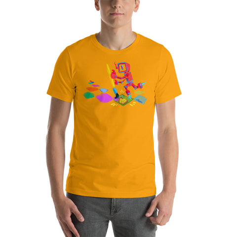 "Image of JC - ""Lucky Pixel Painter/Joe Chiappetta""  - *Men's/Women's/Unisex T-Shirt*"