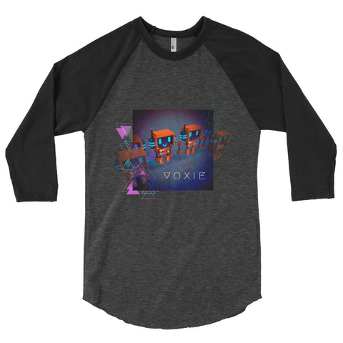 Image of FY - Cyberpunk Voxie - *Men's 3/4 sleeve shirt*