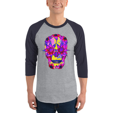 OP - Pink Skully - *Men's 3/4 sleeve Shirt*