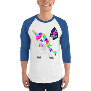 YM - Dabing Unicorn - *Men's 3/4 sleeve Shirt*