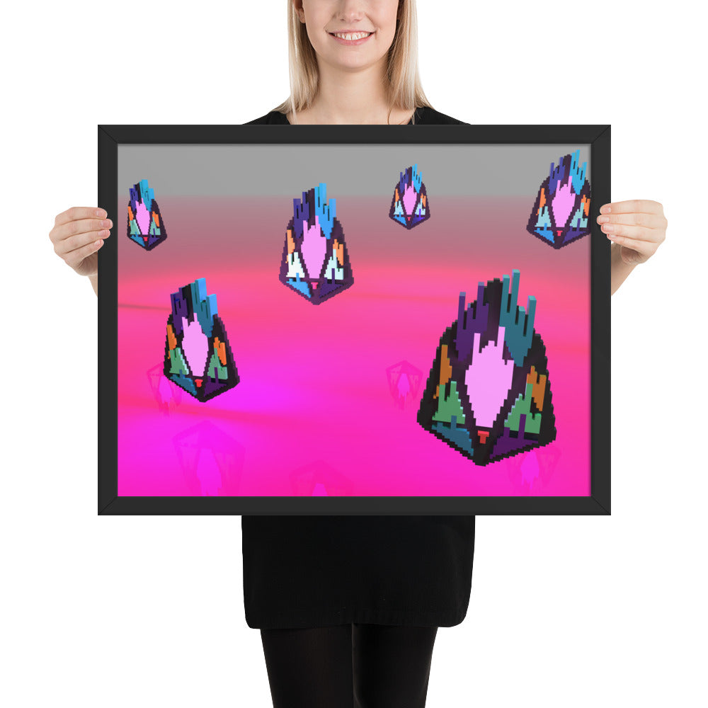 FY - Pixeos Voxel - *Premium Photo Paper Framed Poster*