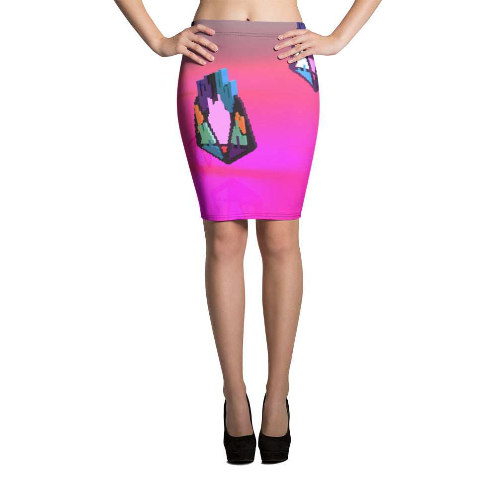 FY - Pixeos Voxel - *Women's Pencil Skirt*