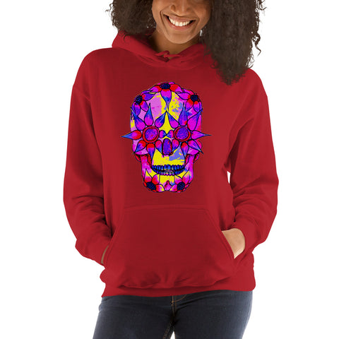 OP - Pink Skully - *Women's Hooded Sweatshirt*