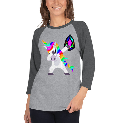Image of YM - Dabing Unicorn - *Women's 3/4 sleeve Shirt*