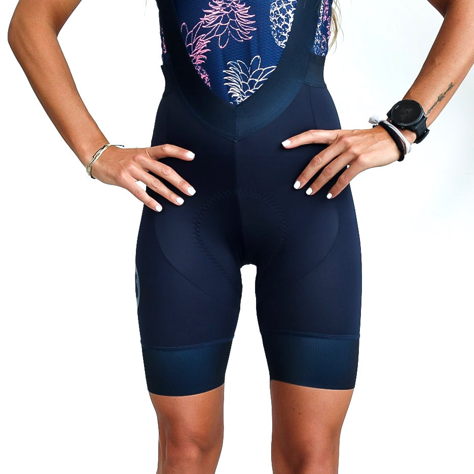Women's Dark Navy Cycling Bibs 2.0