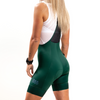 Women's Dark Green Pro Cycling Bibs