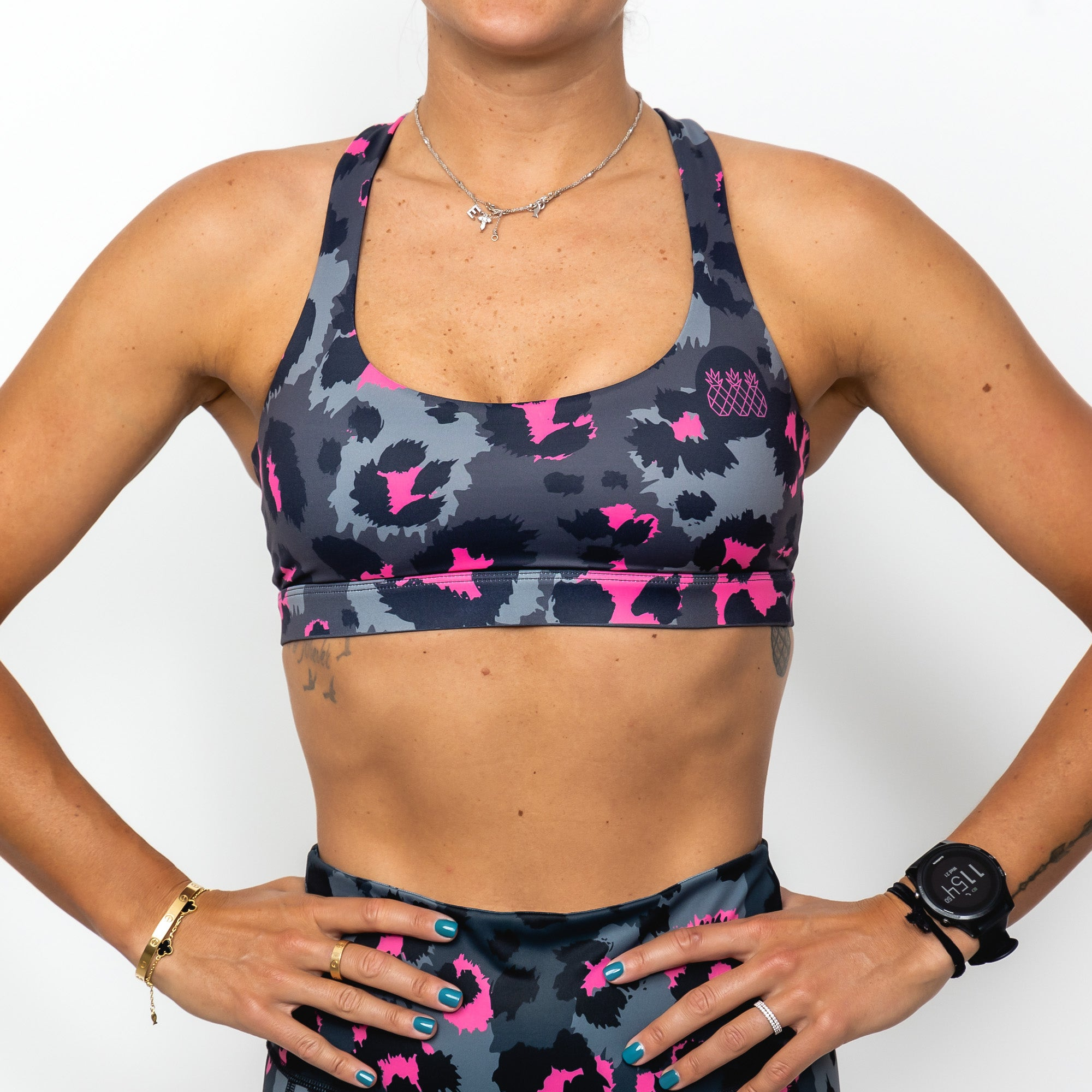 Pink Safari Sports Bra