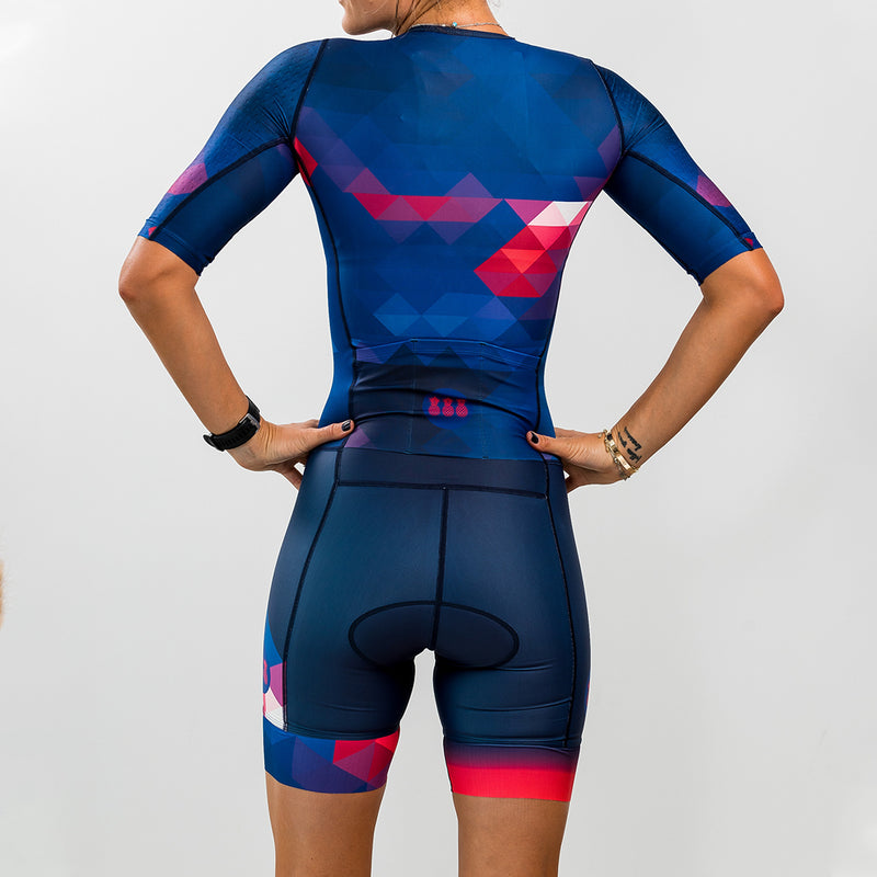 Women's Olympic Blue Aero Tri Suit
