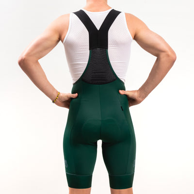 Men's Dark Green Cycling Bibs