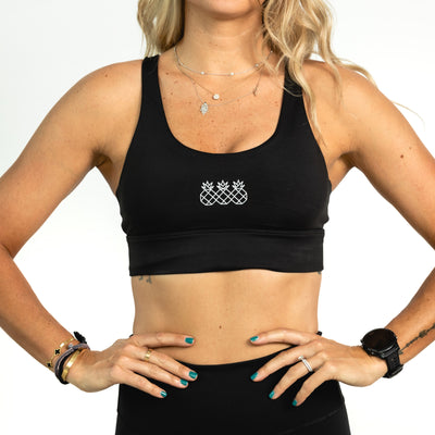 Upbeat Black Sports Bra