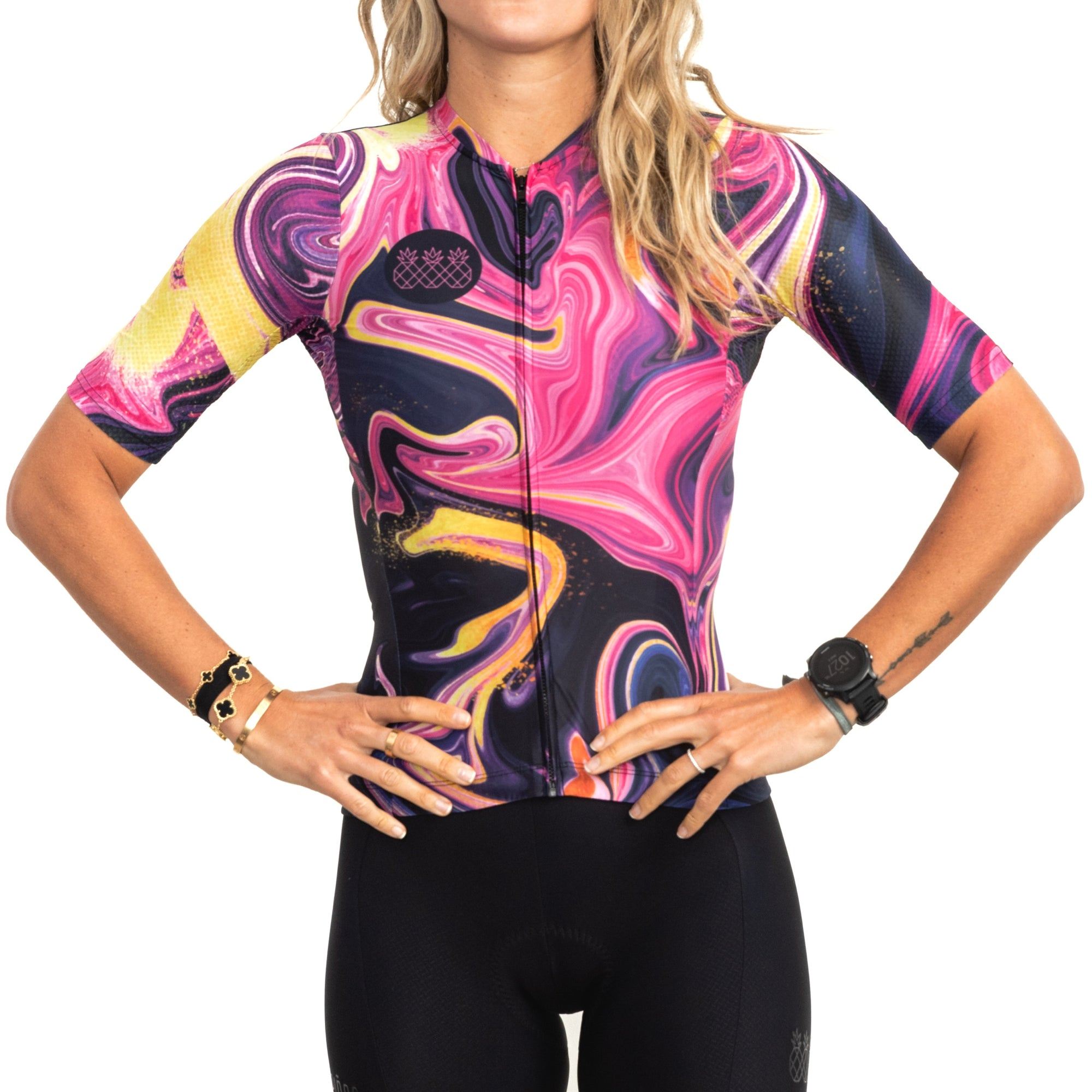 Women's Pink Marble Jersey
