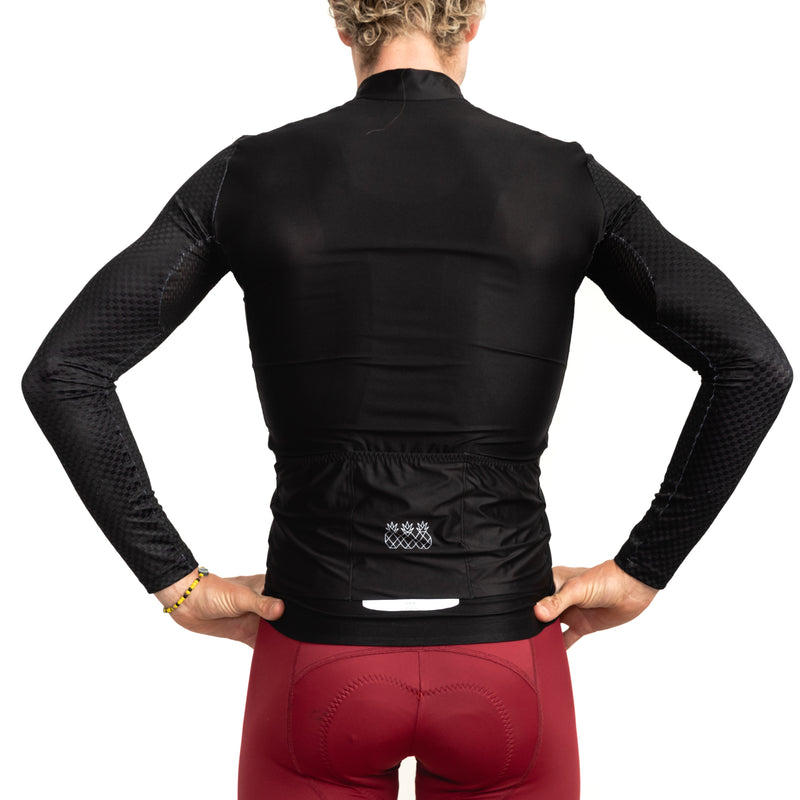 Men's Black Long Sleeve Jersey