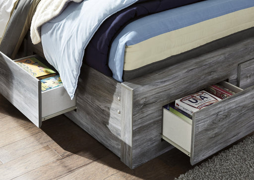 Baystorm Gray King Storage Bed - Austin's Couch Potatoes Furniture