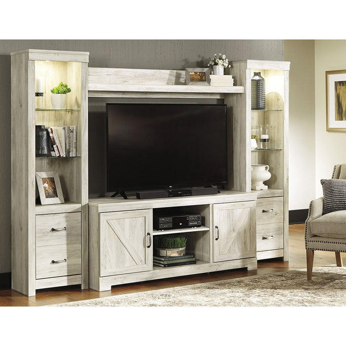 Bellaby Whitewash Entertainment Center - Austin's Couch Potatoes Furniture