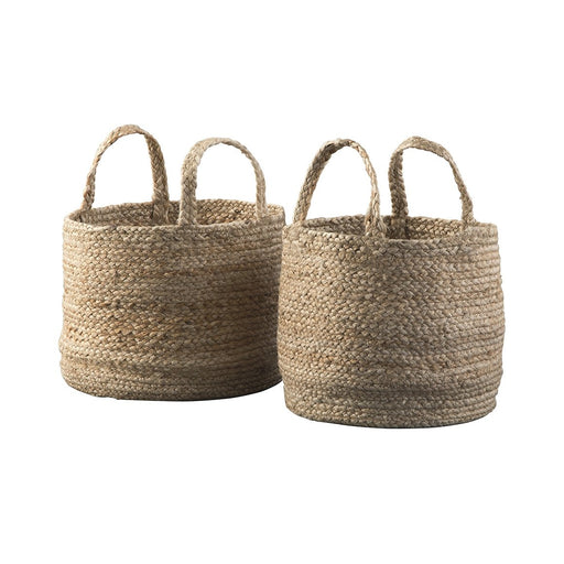 Brayton Natural Basket Set (Set of 2) - Austin's Couch Potatoes Furniture