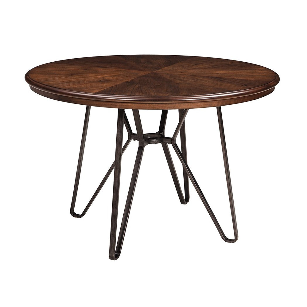 Centiar Two-Tone Brown Round Dining Room Table - Austin's Couch Potatoes Furniture