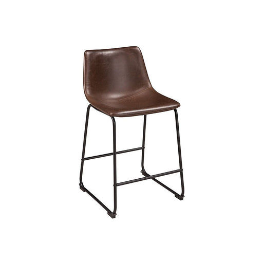 Centiar Two-tone Brown Upholstered Barstool (Set of 2) - Austin's Couch Potatoes Furniture