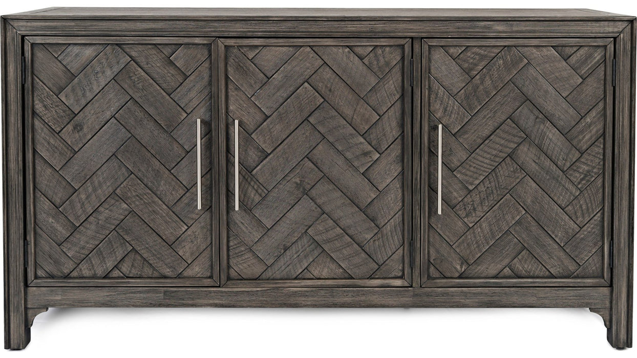Chevron 3 Door Console - Austin's Couch Potatoes Furniture