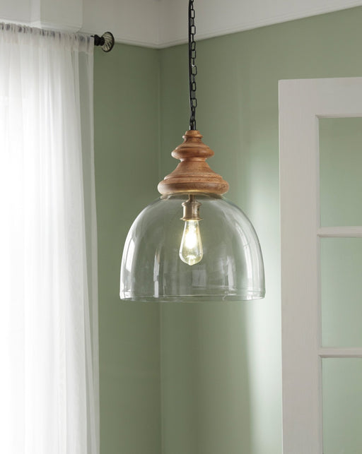 Farica Glass Pendant Light - Austin's Couch Potatoes Furniture