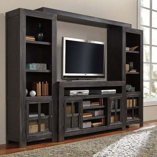 Gavelston Black Entertainment Center - Austin's Couch Potatoes Furniture