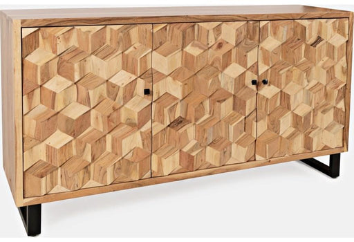 Geometric 3 Door Accent Cabinet - Austin's Couch Potatoes Furniture