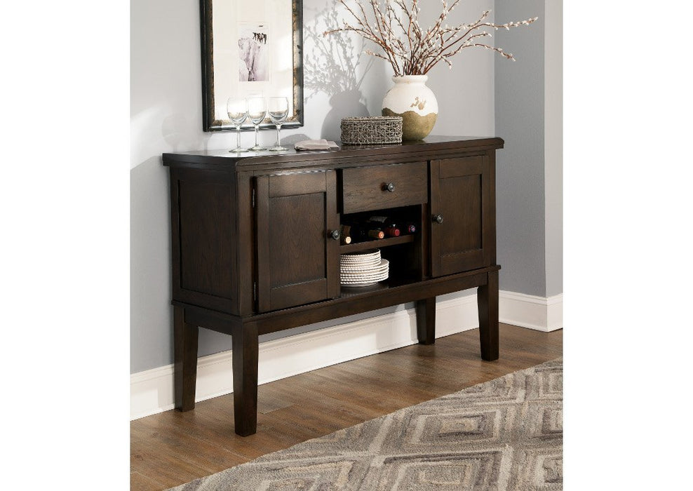 Haddigan Dark Brown Dining Room Server - Austin's Couch Potatoes Furniture