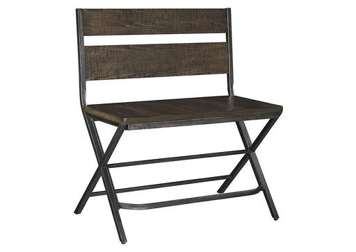 Kavara Medium Brown Double Barstool - Austin's Couch Potatoes Furniture