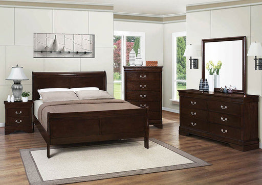 Louis Philippe Queen Bed - Austin's Couch Potatoes Furniture