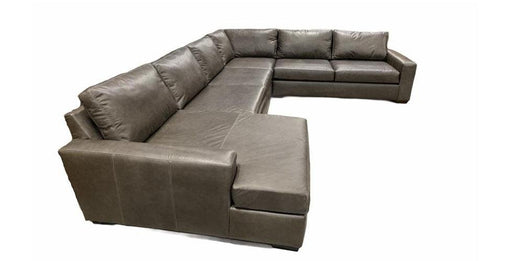 Mesa Leather Deep U-Chaise Left Sectional - Austin's Couch Potatoes Furniture