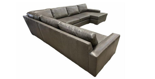 Mesa Leather Deep U-Chaise Right Sectional - Austin's Couch Potatoes Furniture