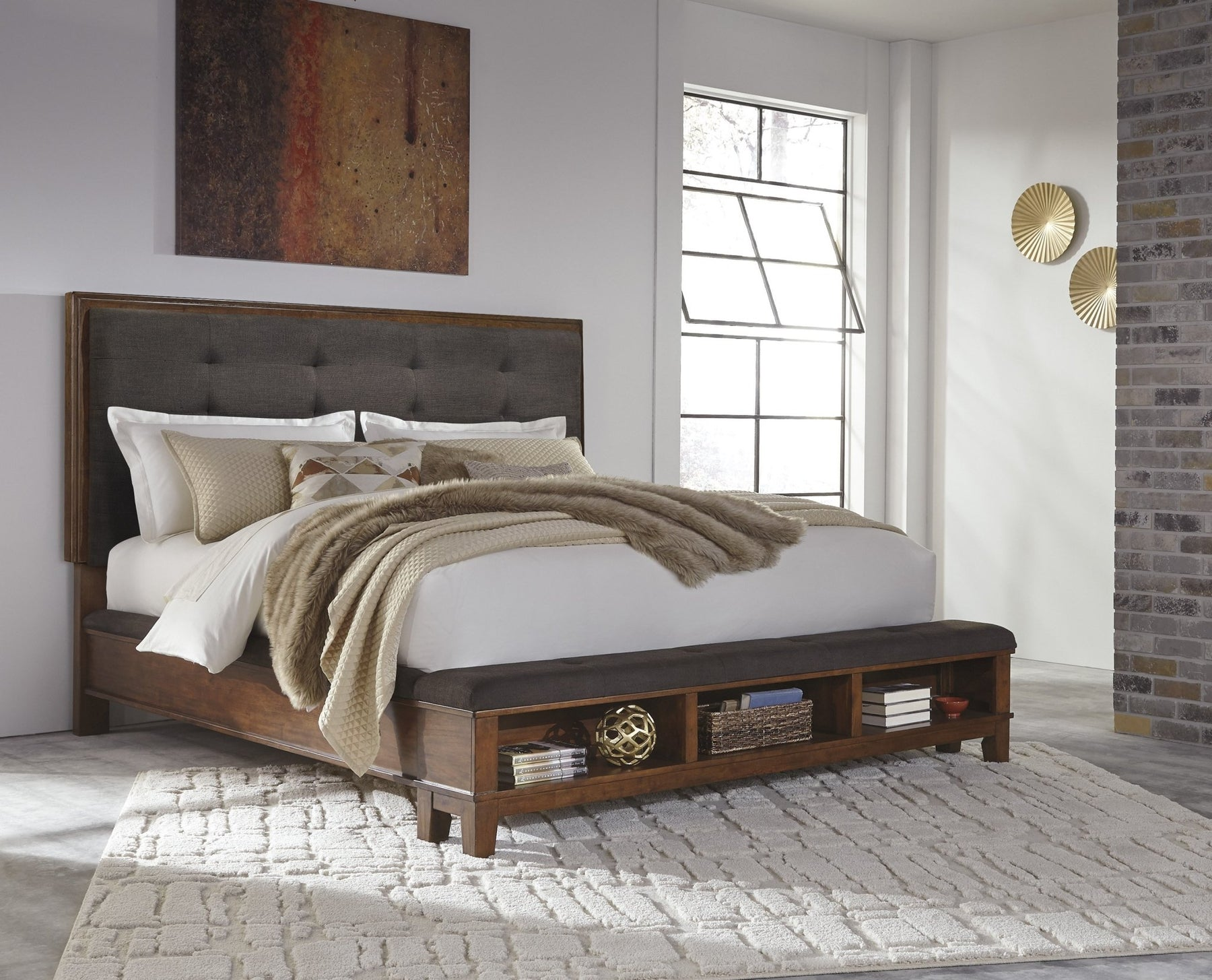 Ralene Queen Upholstered Storage Bed - Austin's Couch Potatoes Furniture