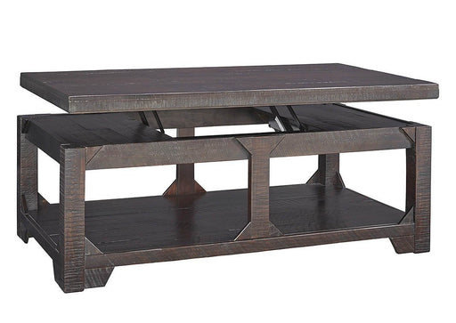 Rogness Rustic Brown Lift Top Cocktail Table - Austin's Couch Potatoes Furniture