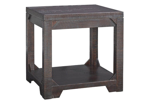 Rogness Rustic Brown Rectangular End Table - Austin's Couch Potatoes Furniture