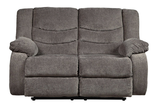 Tulen Gray Reclining Loveseat - Austin's Couch Potatoes Furniture