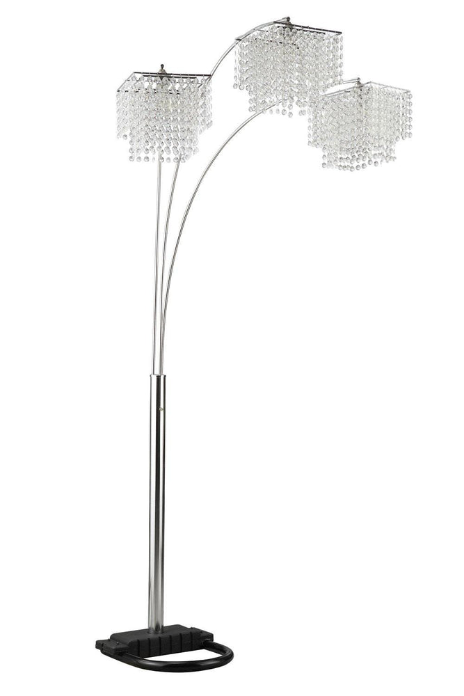 Veillon Arc Floor Lamp with Crystal Shades - Austin's Couch Potatoes Furniture