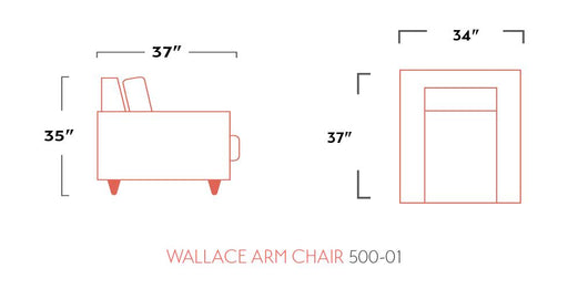 Wallace Chair - Austin's Couch Potatoes Furniture