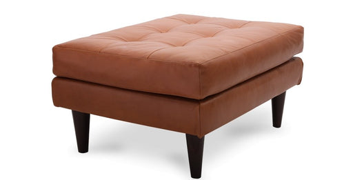 Wallace Leather Ottoman - Austin's Couch Potatoes Furniture
