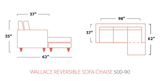 Wallace Reversible Chaise Sofa - Austin's Couch Potatoes Furniture