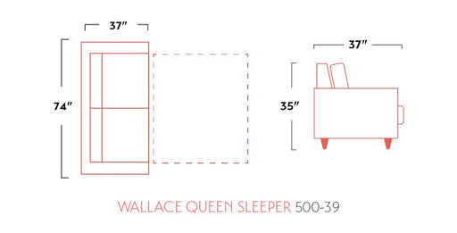 Wallace Sleeper Sofa - Austin's Couch Potatoes Furniture