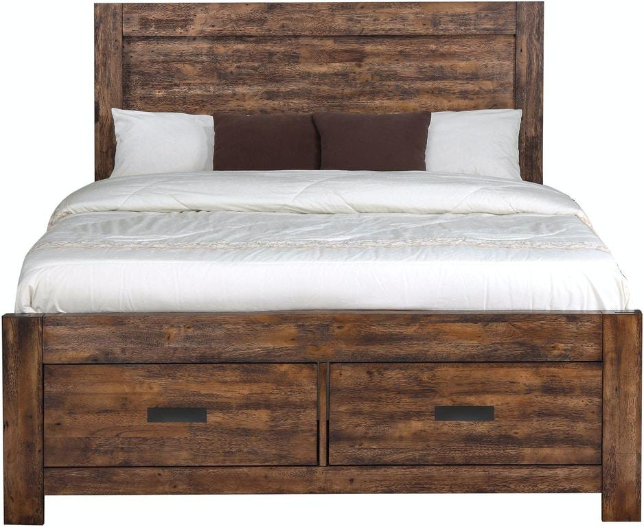 Warner Queen Bed - Austin's Couch Potatoes Furniture
