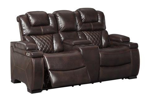 West Side Reclining Loveseat with Power Headrest - Austin's Couch Potatoes Furniture
