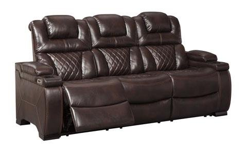 West Side Reclining Sofa with Power Headrest - Austin's Couch Potatoes Furniture