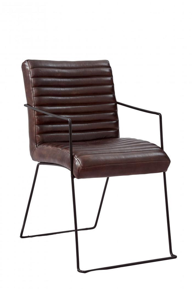 Wyatt Leather Dining Chair - Austin's Couch Potatoes Furniture