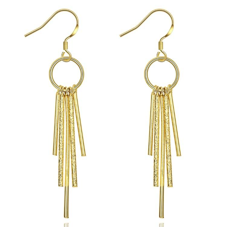 Golden NYC 18K Gold Plated Wind chimes Drop Earrings