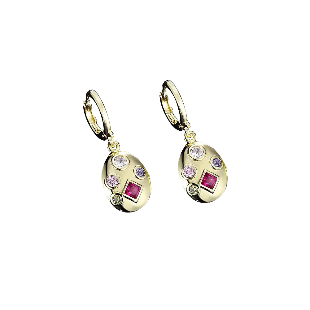 Four Stone Swarovski Elements Drop Earrings