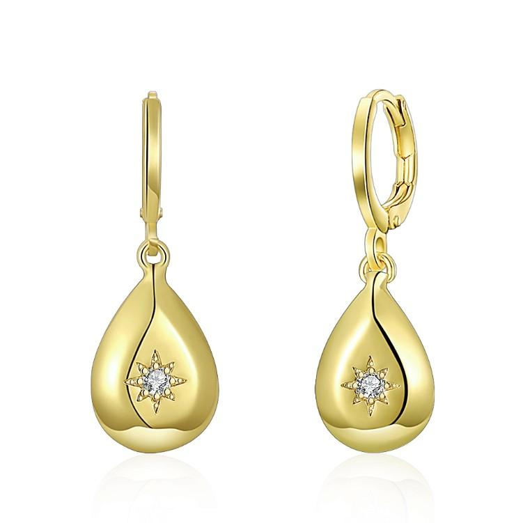 Teardrop Swarovski Elements Drop Earrings