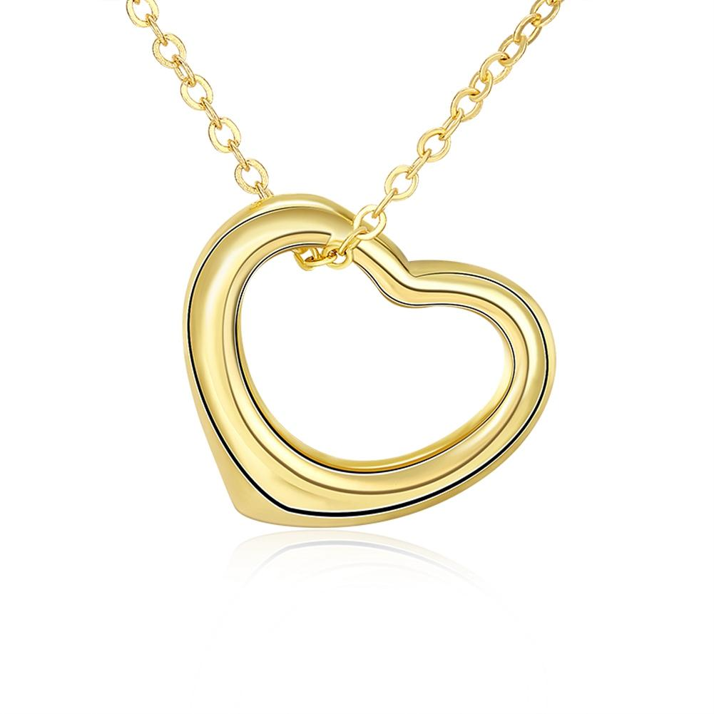 Tiffany Inspired Heart Shaped Necklace in 14K Gold