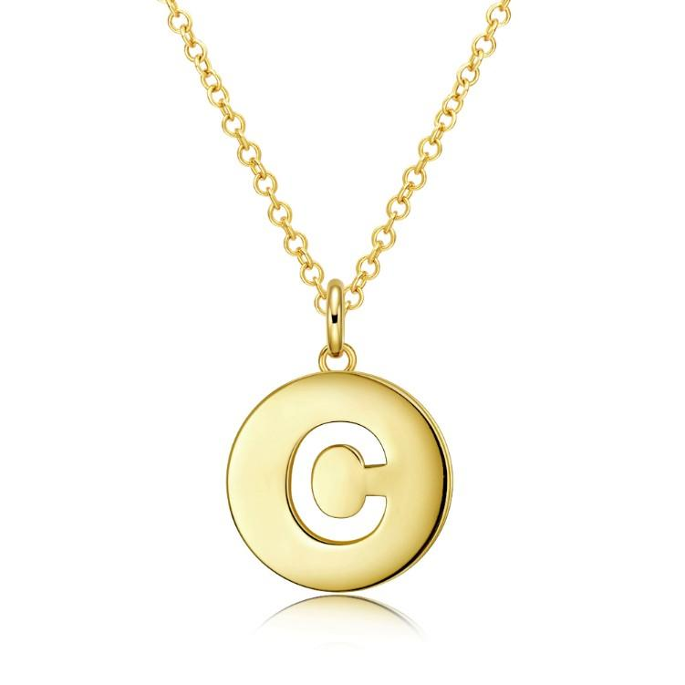 Clarity Disc Necklace in 18K Gold Plated