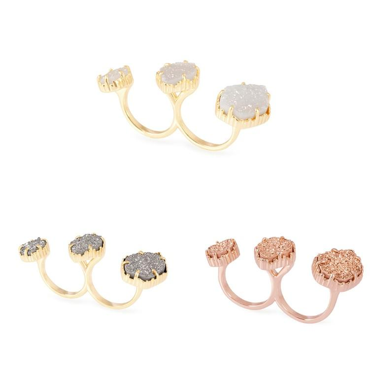 Triple Ice Statement Ring